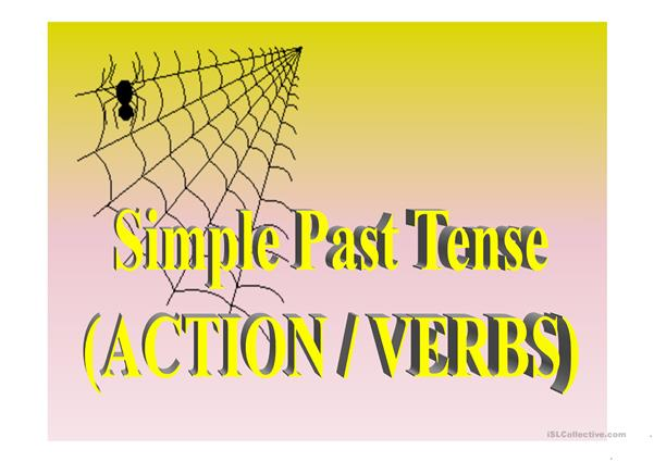 the simple past tense(verbs)