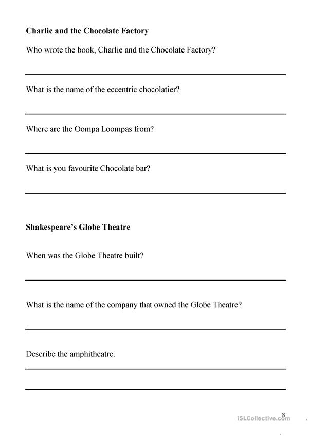 Visit London Worksheet