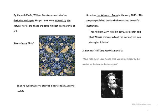 William Morris Fact File