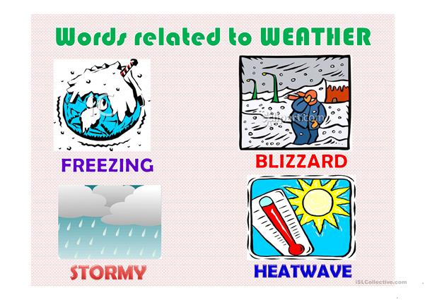 words related to weather