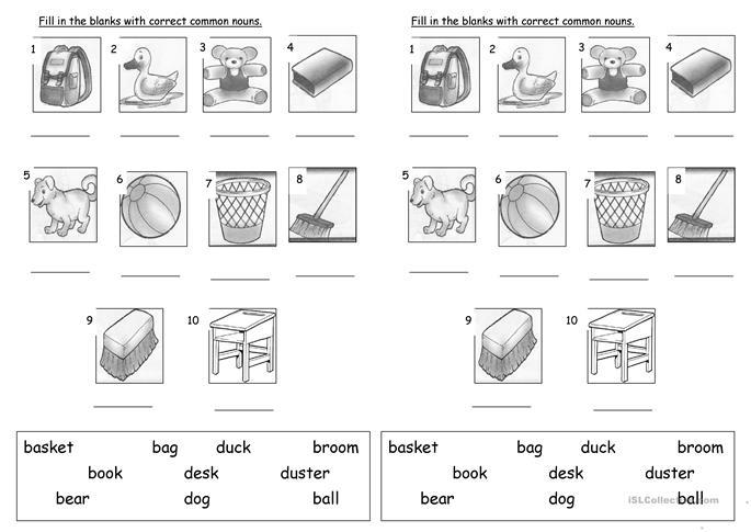math worksheet : common nouns worksheets for kindergarten  proper noun  : Kindergarten Noun Worksheets