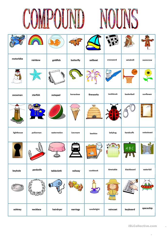Printables Compound Nouns Worksheet 17 free esl compound nouns worksheets nouns