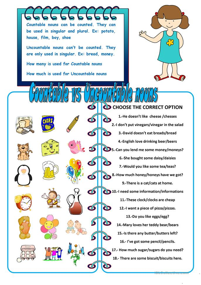 countable and uncountable nouns exercises pre-intermediate pdf