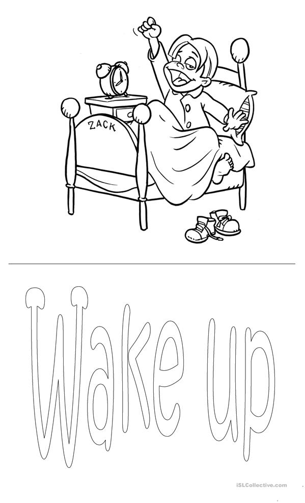 daily coloring pages - daily routine worksheet colouring pages page 2