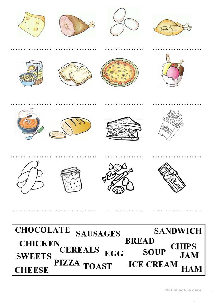 Esl Worksheets Food Vocabulary - food and drinks english ...