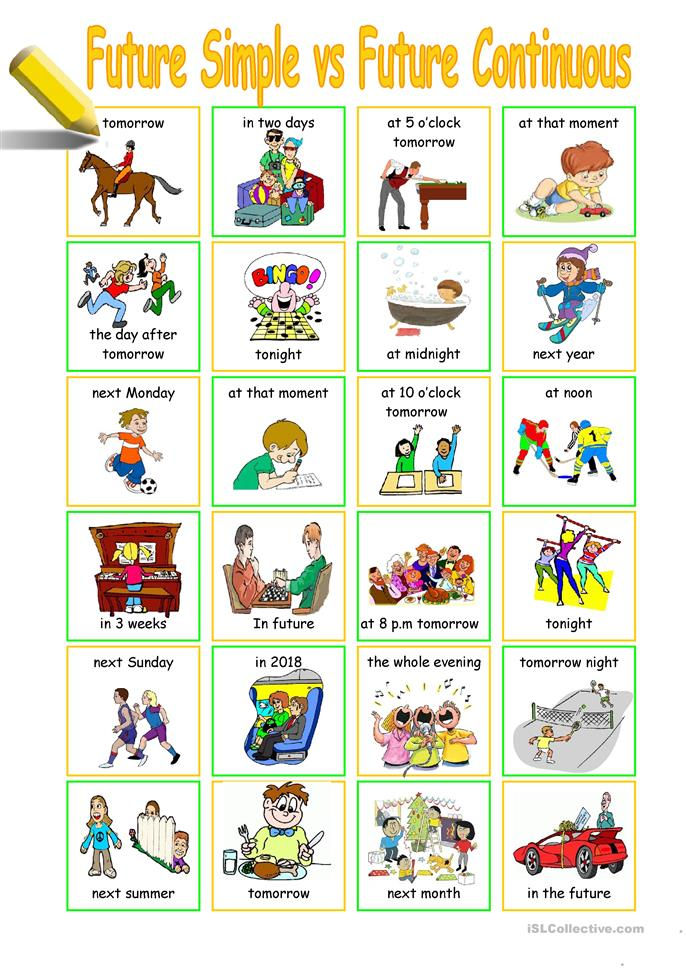 27 FREE ESL Future continuous tense: (will be V+ing) worksheets