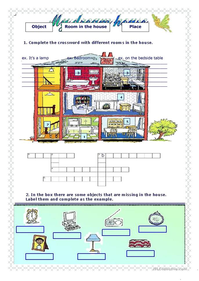 my dream house worksheet Free ESL printable worksheets
