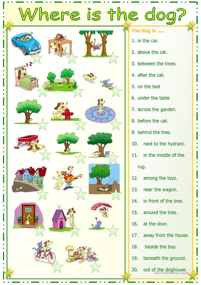 preposition match - ESL worksheets