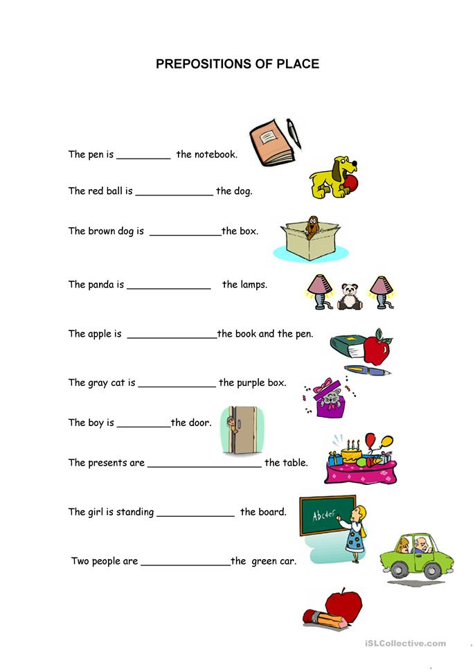 Prepositions Of Place Worksheet - Rringband