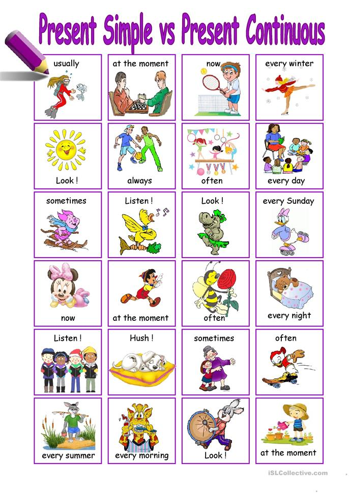 present Simple vs Present Continuous worksheet - Free ESL ...