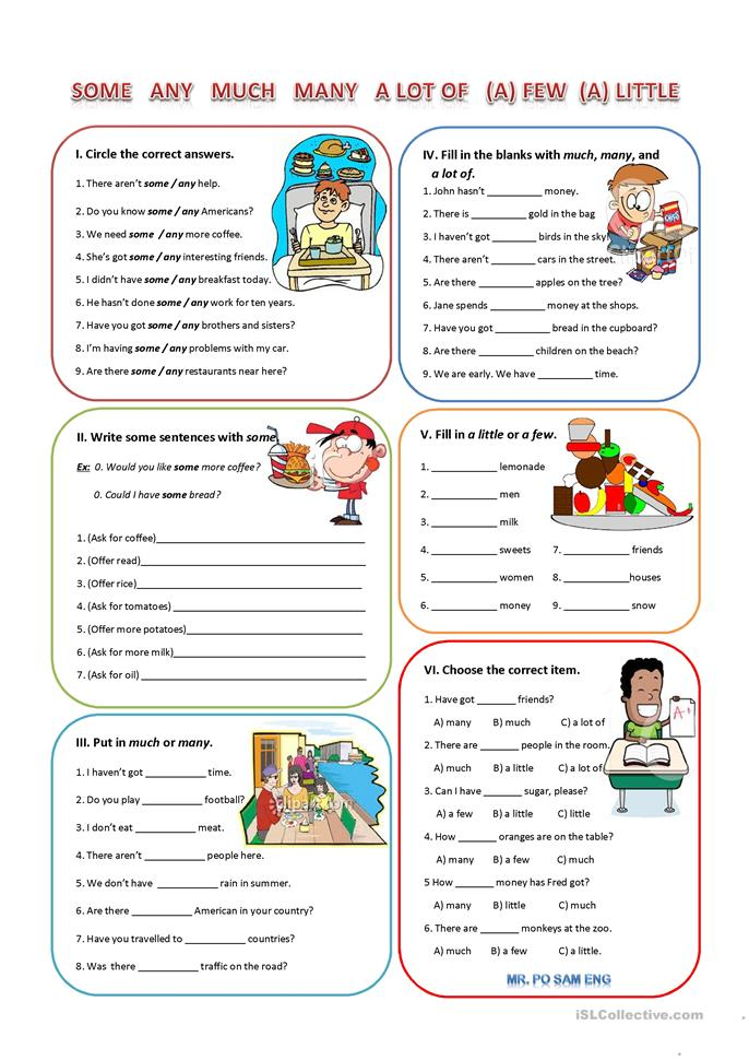 Quantifiers - ESL worksheets