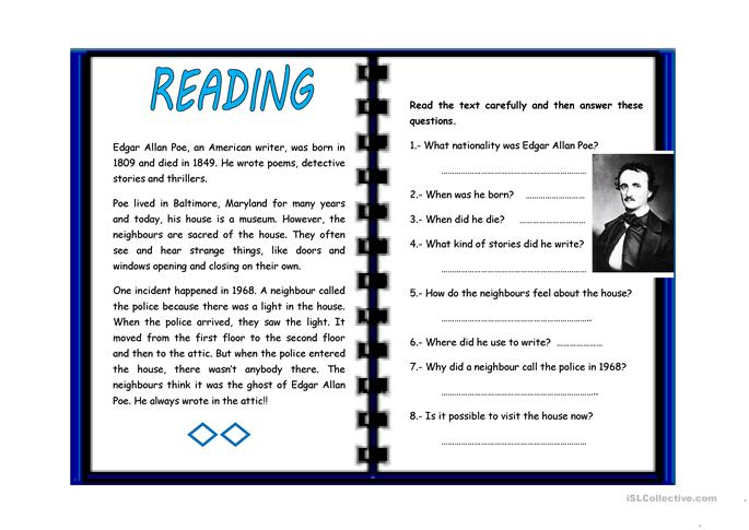 All Worksheets Edgar Allan Poe Worksheets Middle School – Edgar Allan Poe Worksheets