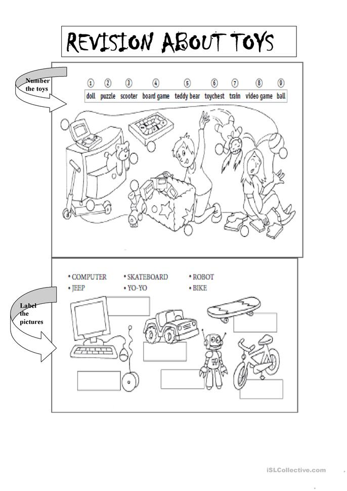 revision about toys worksheet   free esl printable