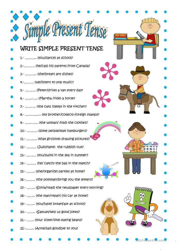 Worksheets Simple Present Tense Worksheets simple present tense 2 worksheet free esl printable worksheets made by teachers
