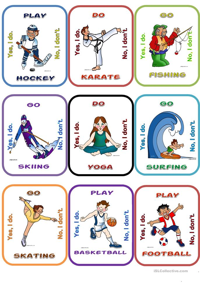 Sports go fish worksheet free esl printable worksheets for Fish oil for toddlers speech delay