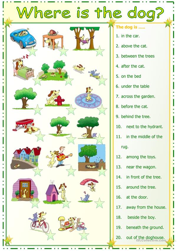 Preposition In Learn In Marathi All Complate: Preposition Match Worksheet