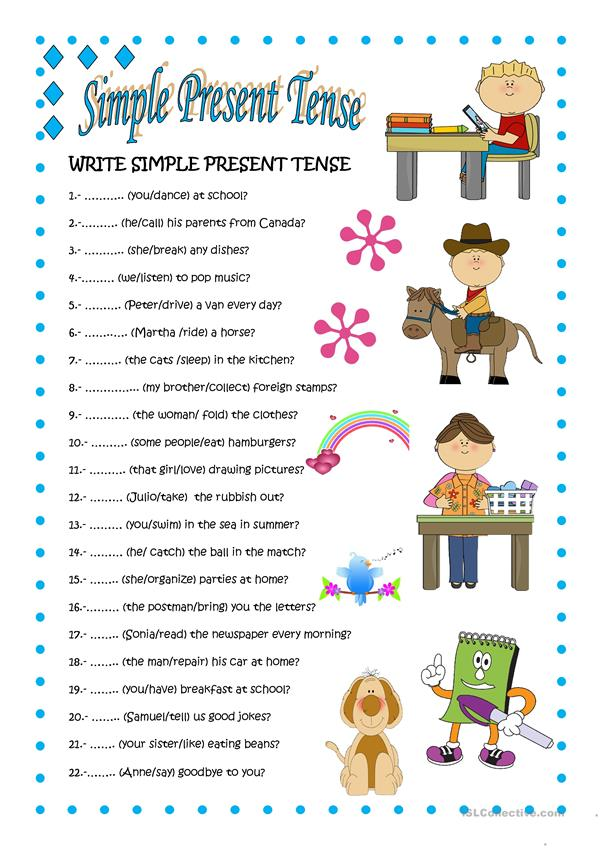 Present Simple Tense Study English Today