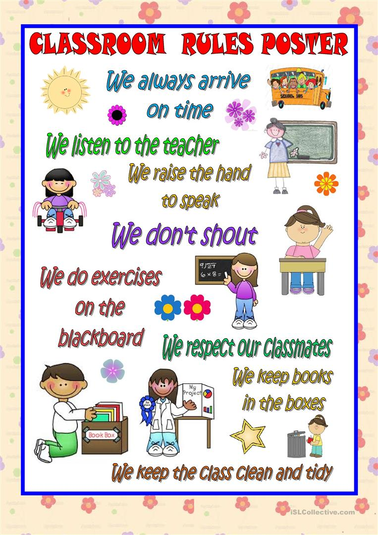 Worksheets Classroom Rules Worksheet classroom rules poster worksheet free esl printable worksheets full screen