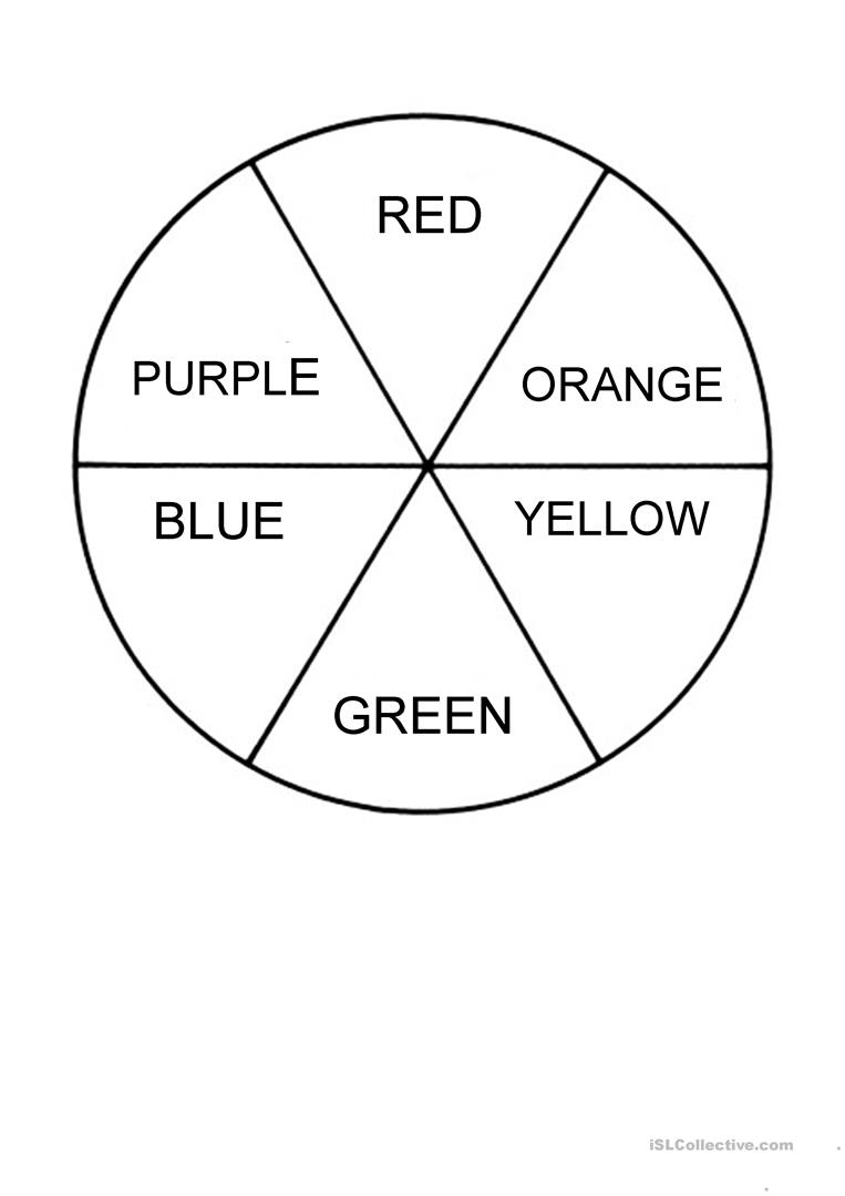 photo relating to Printable Color Wheel Worksheet named Coloration WHEEL - English ESL Worksheets