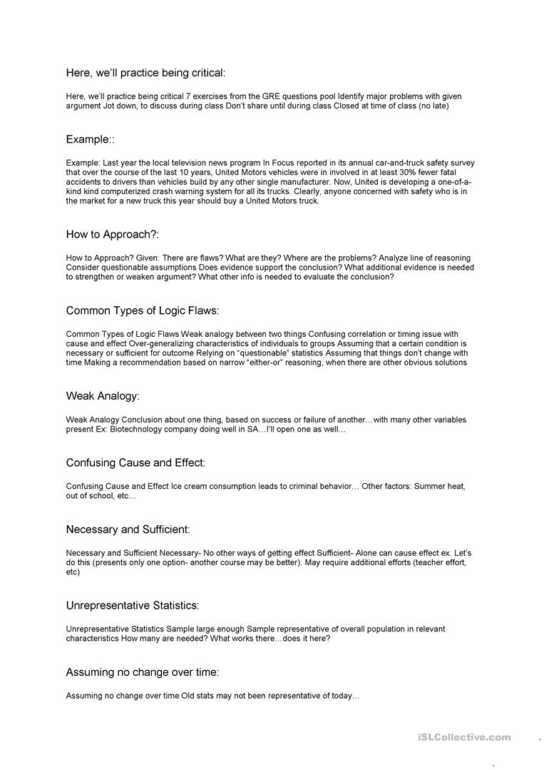 worksheet Criminal Thinking Worksheets critical thinking worksheet free esl printable worksheets made by full screen