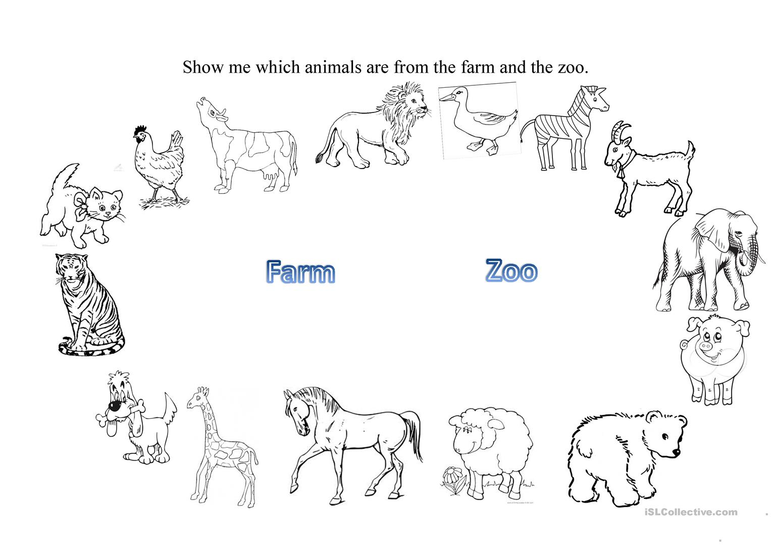 farm and zoo animals worksheet free esl printable worksheets made by teachers. Black Bedroom Furniture Sets. Home Design Ideas