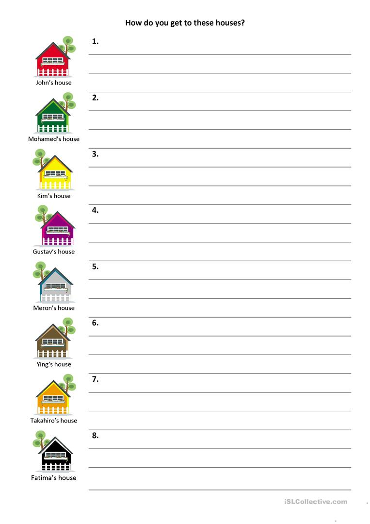 Give And Follow Directions On A Map Worksheet Free Esl Printable
