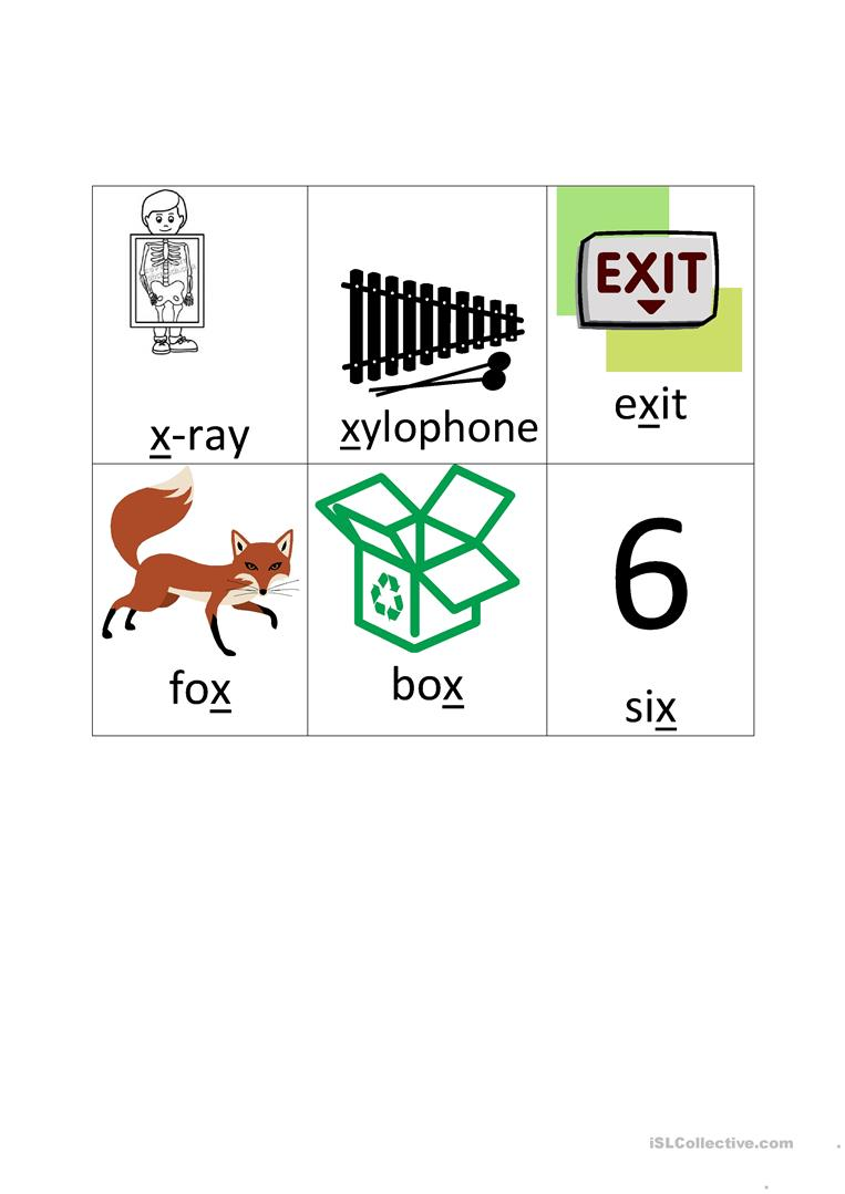 dictionary words that start with x