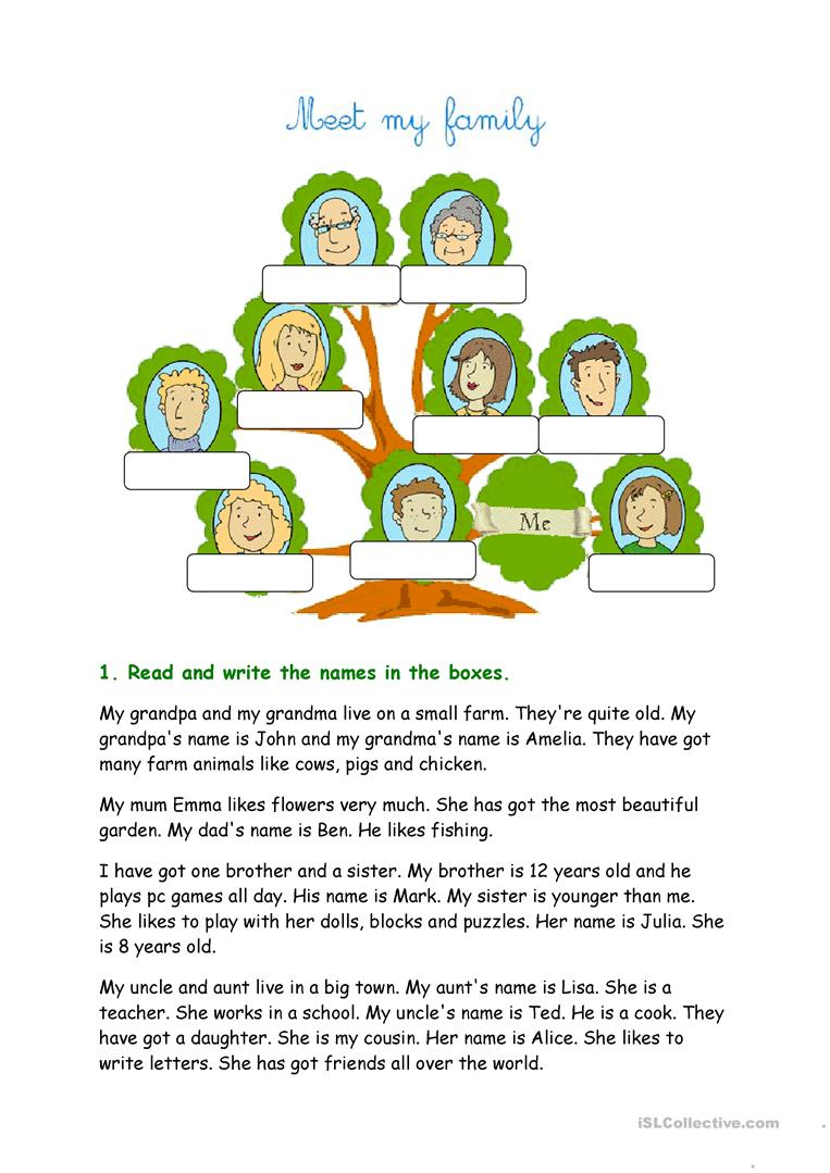 Meet my family worksheet free esl printable worksheets made by full screen ibookread ePUb