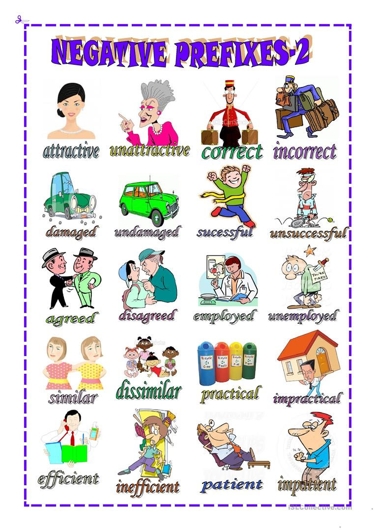 negative prefixes Prefixes: un, dis, im, mis  the following 4 prefixes are easy to confuse because they all have a negative meaning un.