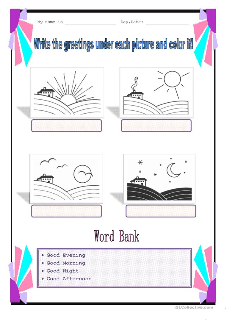 11 free esl parts of a day worksheets parts of the day m4hsunfo