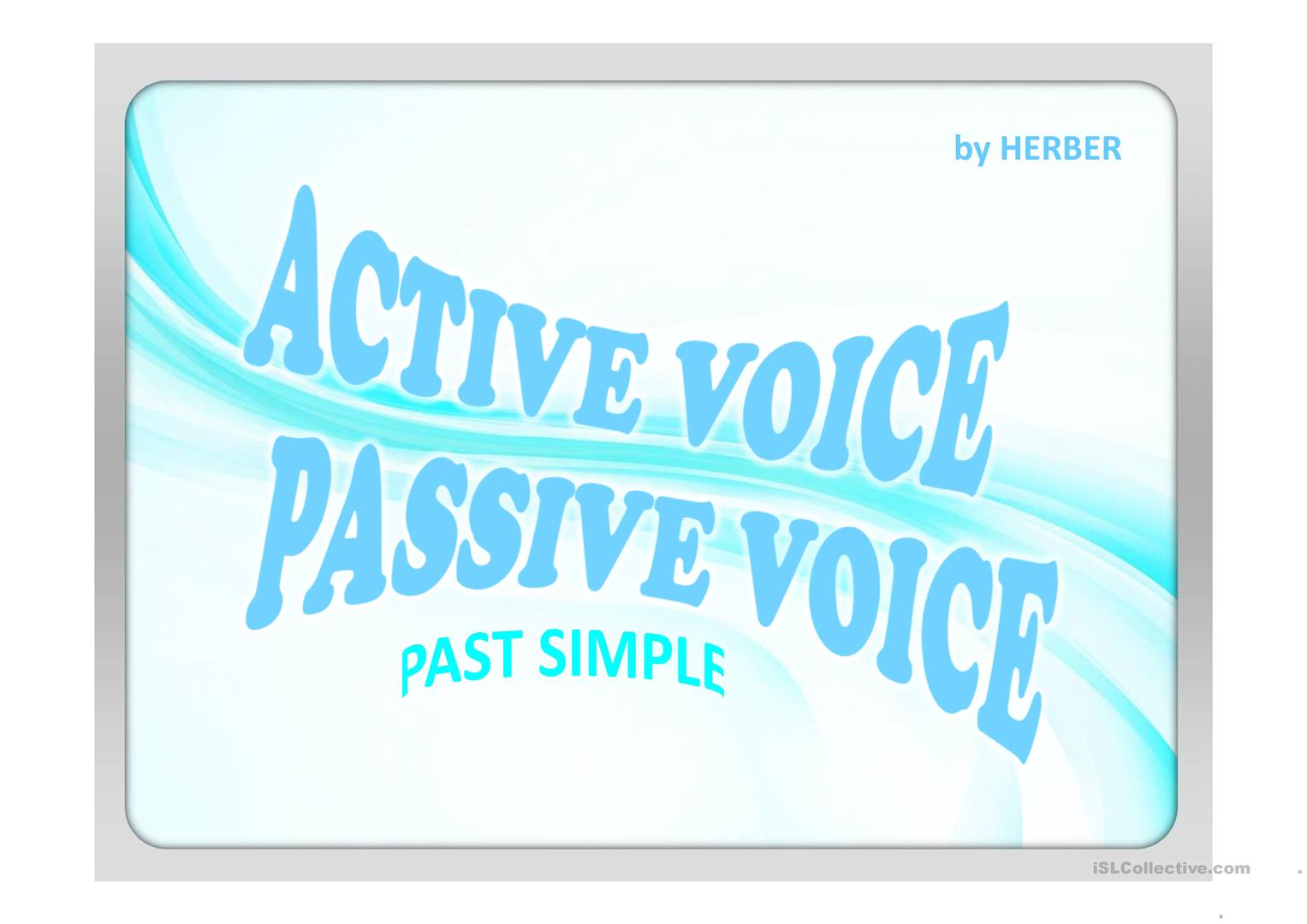 68 FREE ESL Passive voice or active voice Powerpoint presentations ...