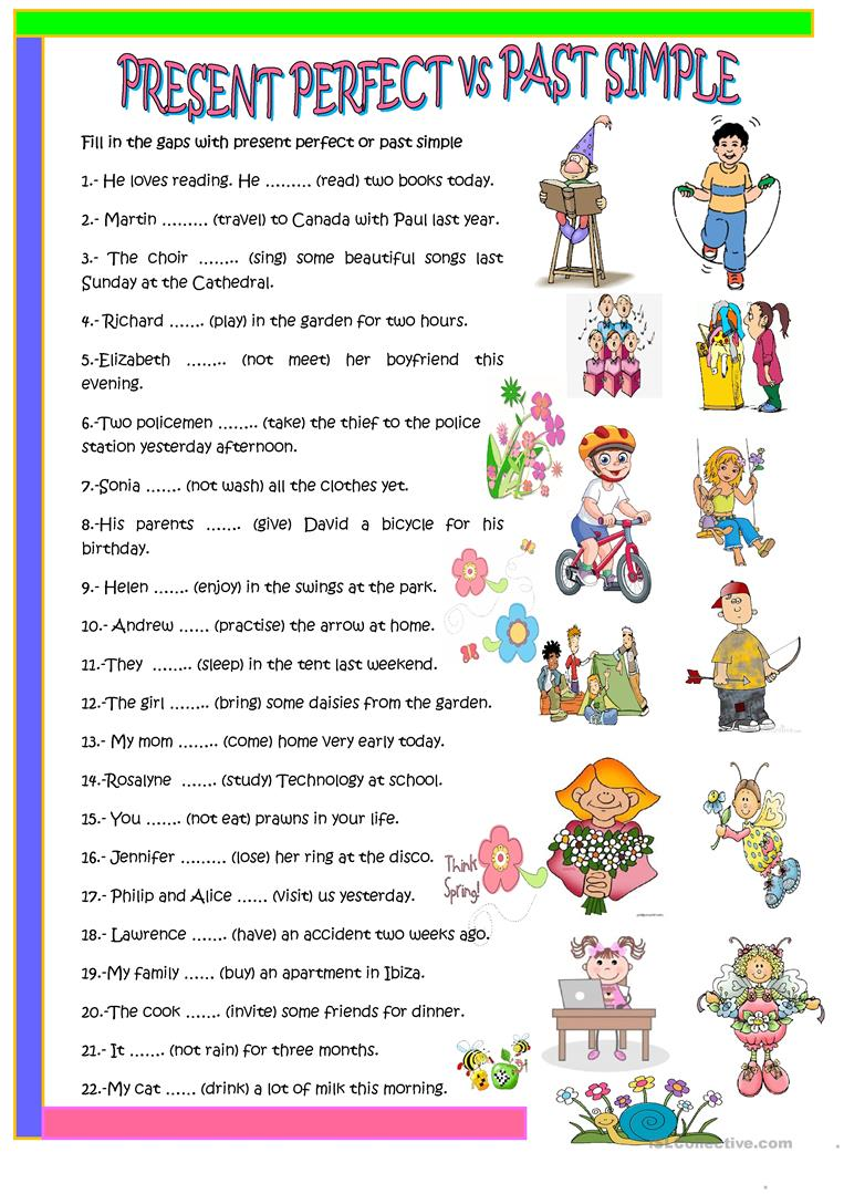 worksheet Past Simple Or Present Perfect Worksheet 63 free esl past simple vs present perfect worksheets simple