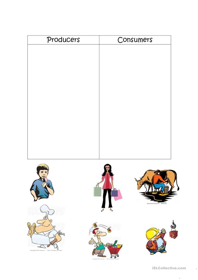 Worksheets Producers And Consumers Worksheet producers and consumers worksheet free esl printable worksheets full screen