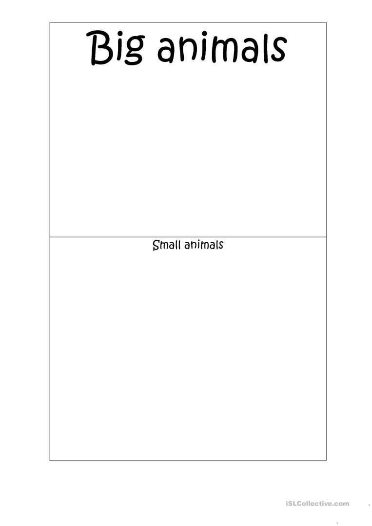 Verb Worksheets For 3rd Grade Zoo Animals  Big Or Small Worksheet  Free Esl Printable  Worksheets On Metaphors with Worksheets For Kids Free Full Screen Finding Equivalent Fractions Worksheet Word