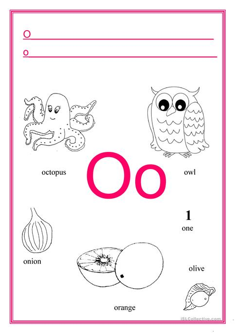letter o worksheets o worksheet kidz activities 22924