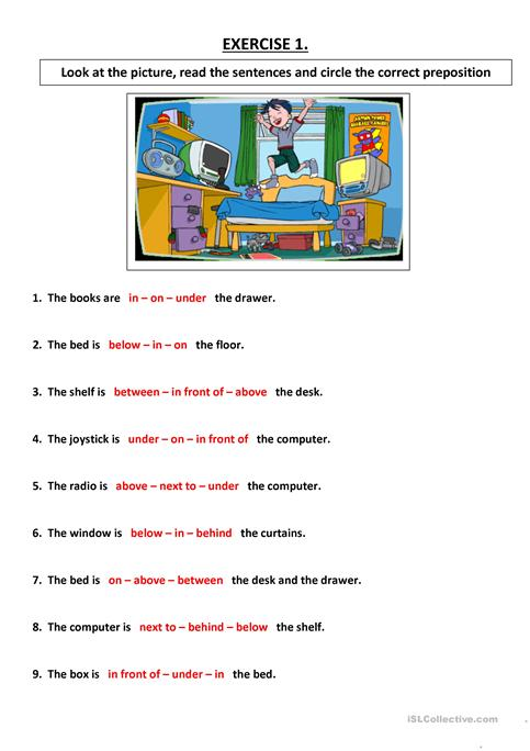 Choose The Correct Preposition Worksheet Free Esl Printable