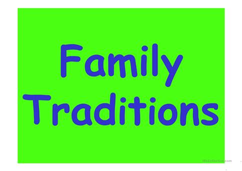 Family Traditions Lesson Plans & Worksheets Reviewed by Teachers