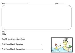 2 FREE ESL Green Eggs And Ham Worksheets