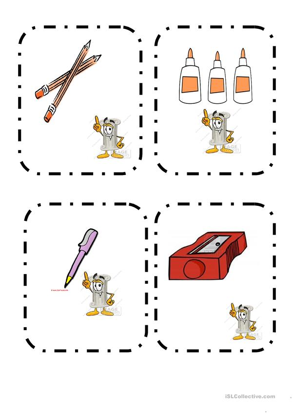 classroom objects- memory game