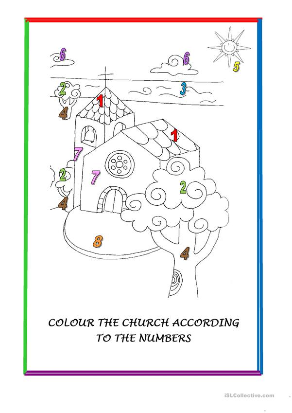 COLOUR THE CHURCH -2 pages