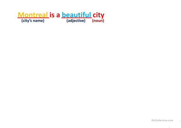 Describing a City