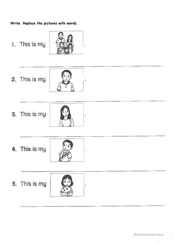 English Primary 1 - English ESL Worksheets