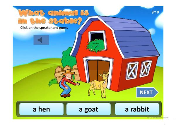 FARM ANIMALS GAME PPT