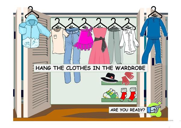 Hang the Clothes in the Wardrobe Game!