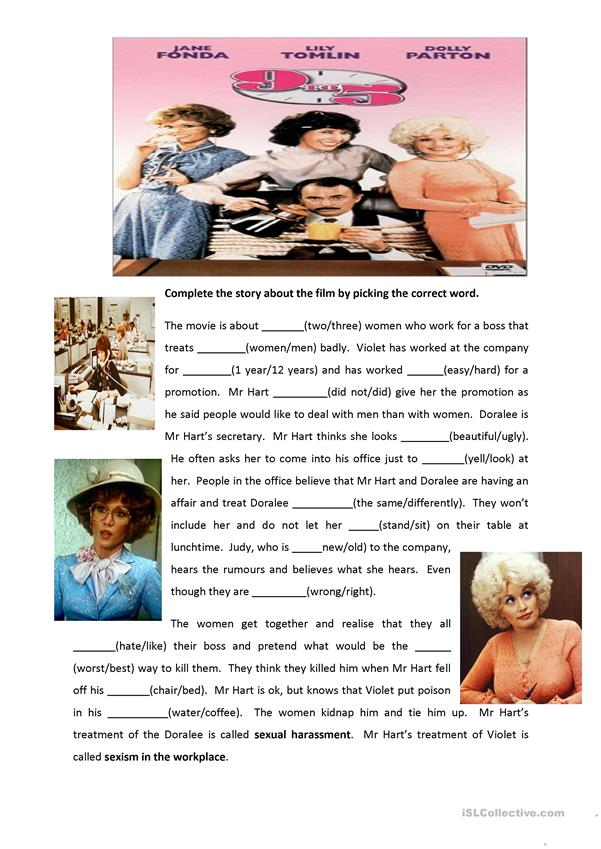 Movie 9 to 5 worksheet