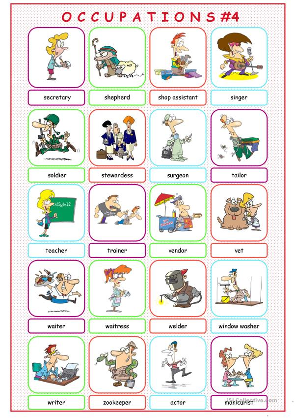 Occupations Picture Dictionary#4