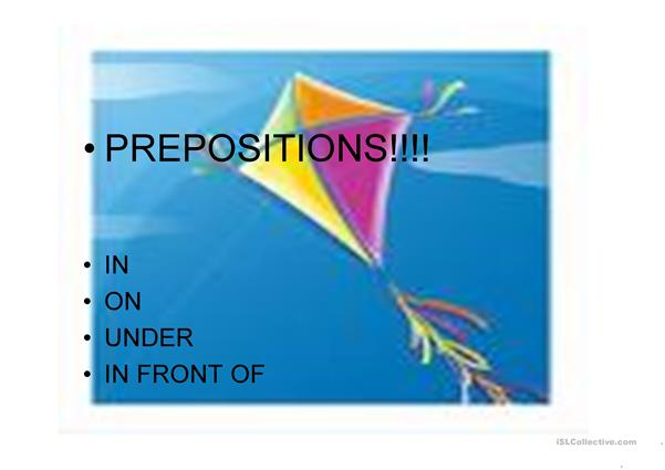 prepositions, colors