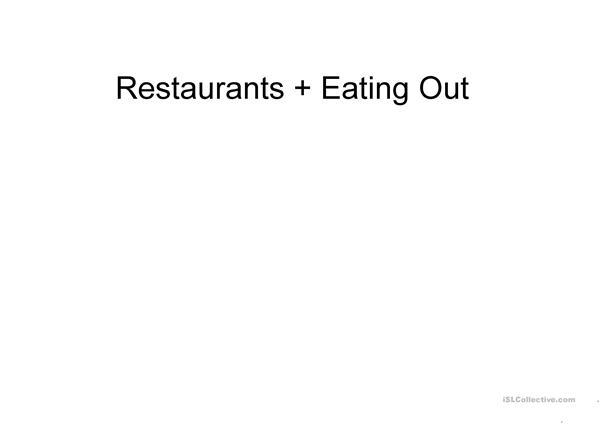 Restaurants & Eating Out