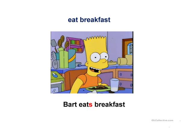 Simpsons. Daily routines.