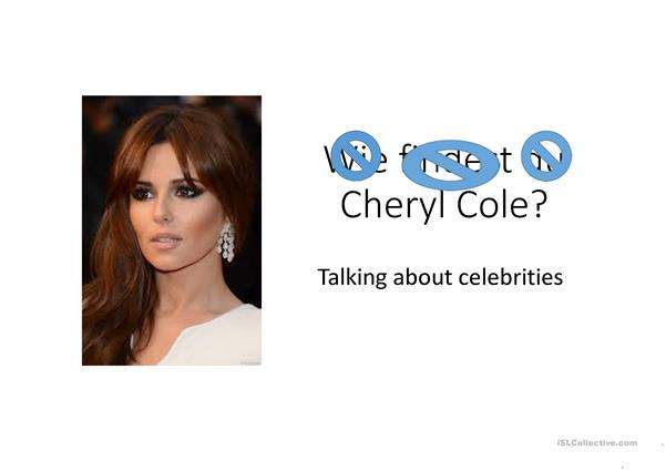 talking about celebrities